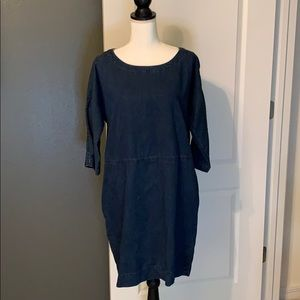MINT Eileen Fisher Denim Dress w/pockets!!